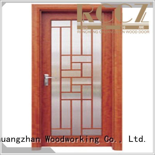 Custom wooden double glazed doors glazed door door Runcheng Woodworking