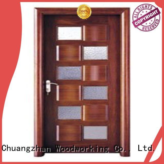 durable Custom glazed wooden double glazed doors door Runcheng Woodworking