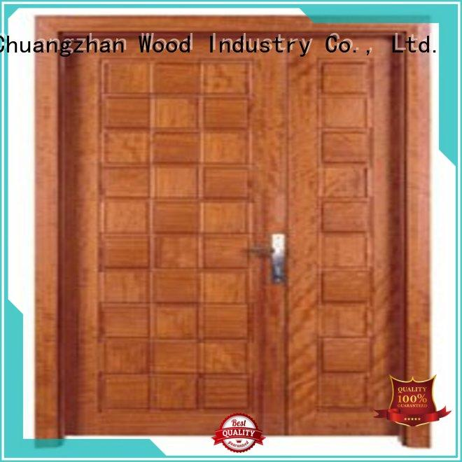 Runcheng Chuangzhan Brand door solid quality white double doors double supplier