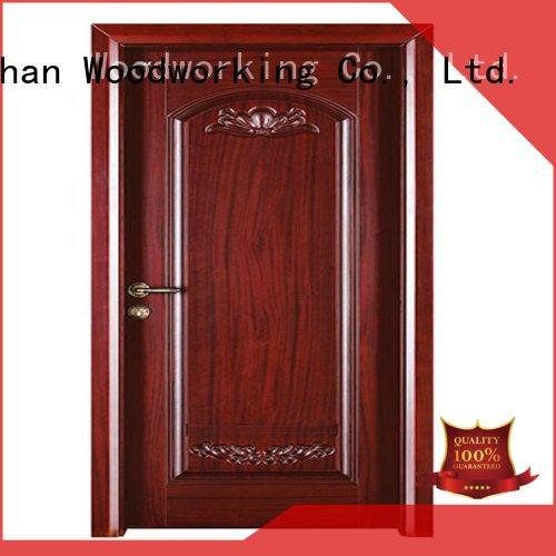 door d014 d021 pp026 Runcheng Woodworking cheap wooden front doors