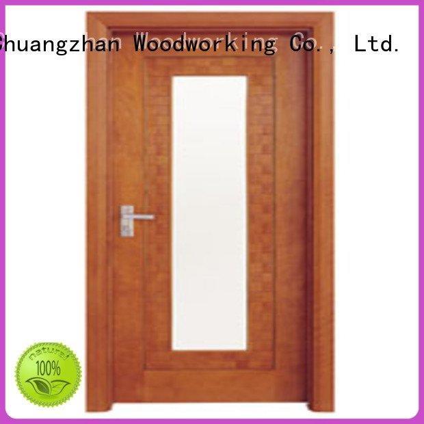 d0073 l0083 Runcheng Woodworking wooden double glazed doors