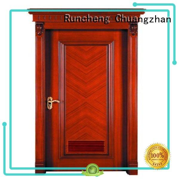 Runcheng Chuangzhan bathroom wood veneer door Suppliers for offices