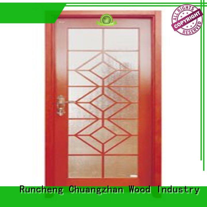 Runcheng Chuangzhan eco-friendly white glazed interior doors supplier for indoor