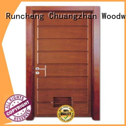 composite interior doors bathroom door solid wood bathroom doors Runcheng Woodworking Warranty