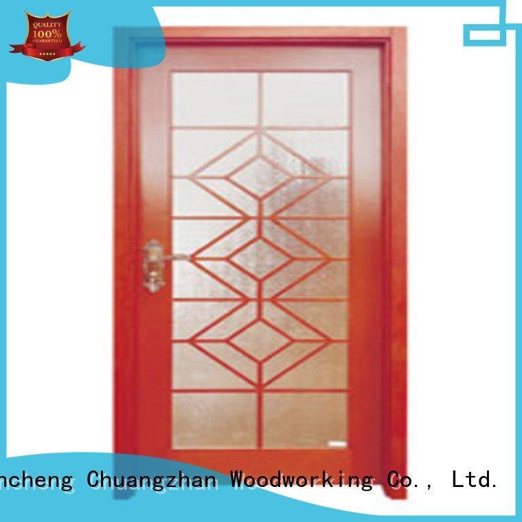 door glazed glazed Runcheng Woodworking wooden double glazed doors