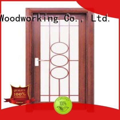 Runcheng Chuangzhan door wooden double glazed doors supplier for offices