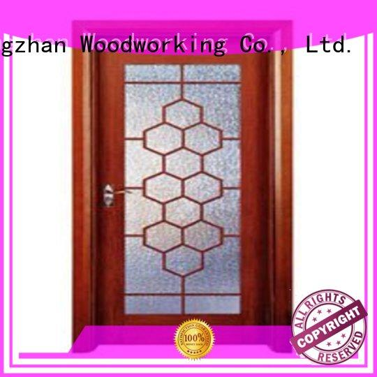 glazed door durable OEM wooden double glazed doors Runcheng Woodworking