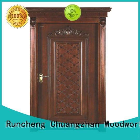 ODM interior wooden door with solid wood eco-friendly supplier for villas