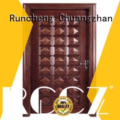 Runcheng Chuangzhan eco-friendly steel bedroom door series for hotels