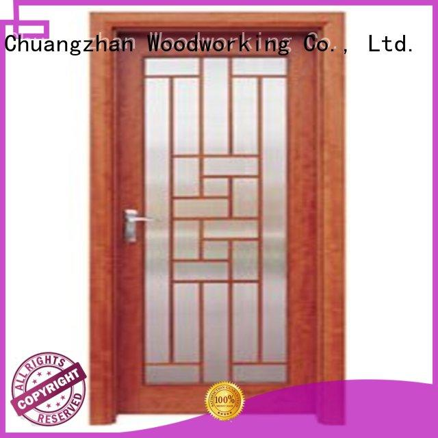 durable glazed door wooden double glazed doors door Runcheng Woodworking