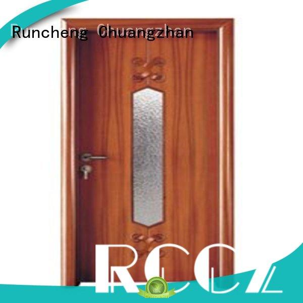 Runcheng Chuangzhan eco-friendly double glazed interior doors supplier for hotels