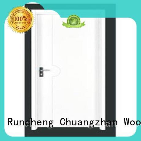 Runcheng Chuangzhan popular solid wood flush exterior door series for indoor