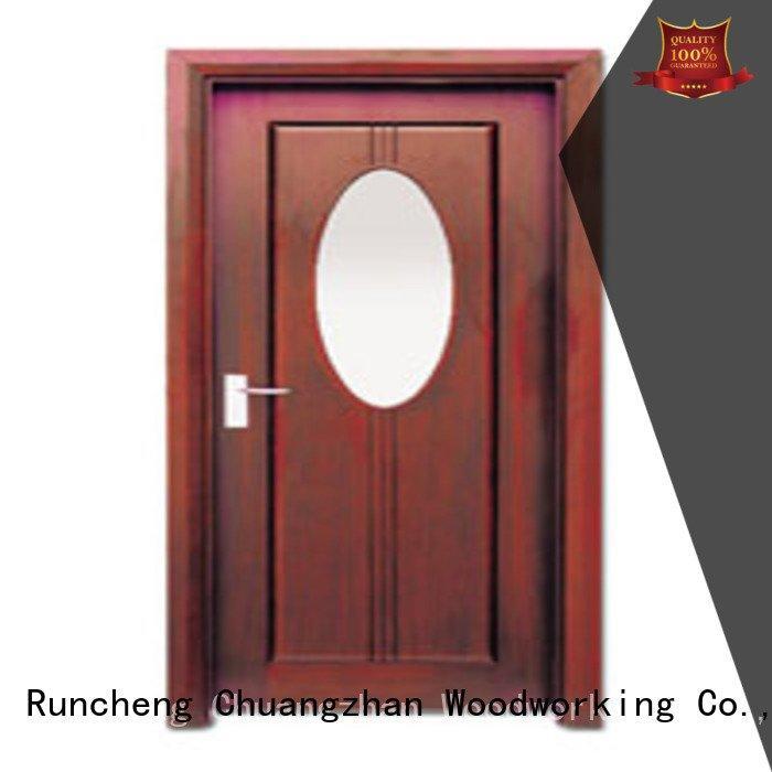 Runcheng Woodworking door wooden double glazed doors x0303 x0104