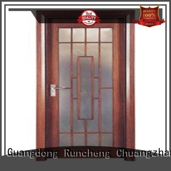 Runcheng Chuangzhan Brand glazed hardwood glazed internal doors door supplier