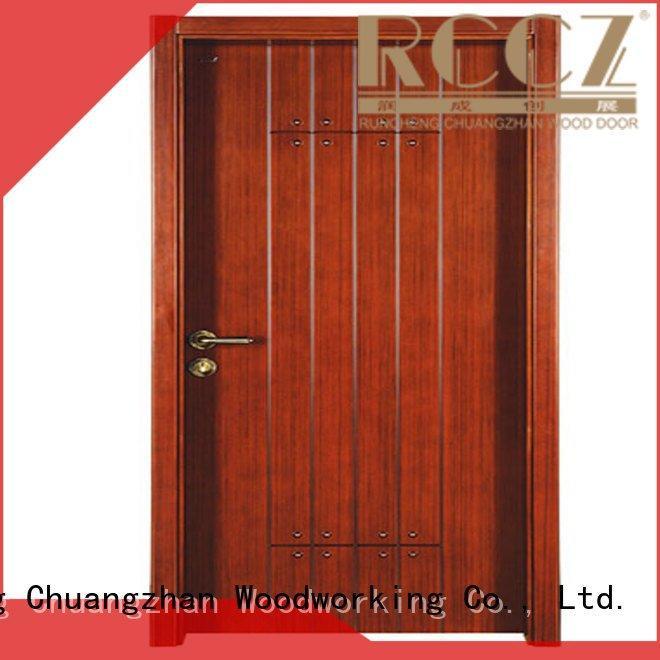 Custom s017 interior wooden door with solid wood wooden cheap wooden front doors