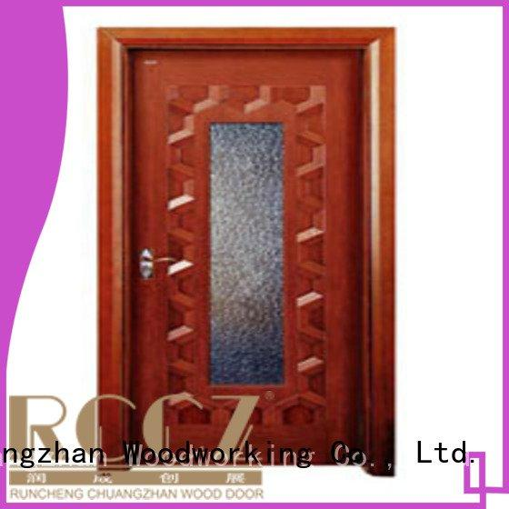 Runcheng Woodworking wooden glazed front doors l0083 x0143 x0134 x0234