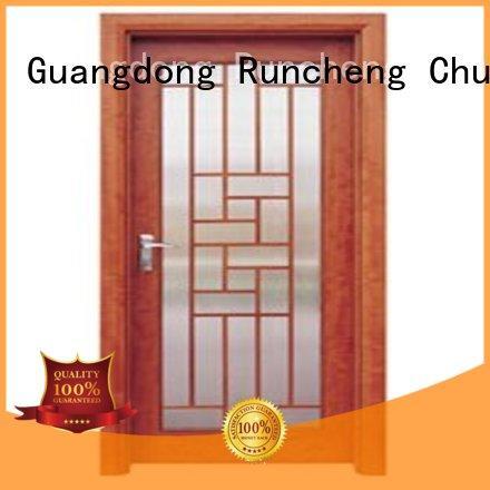 durable glazed door door Runcheng Chuangzhan Brand wooden double glazed doors supplier