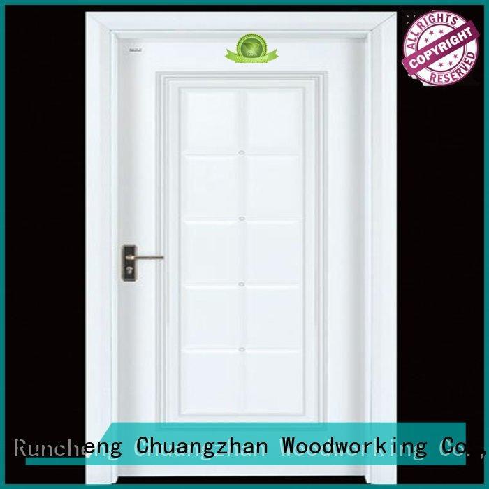 cheap wooden front doors door interior wooden door with solid wood Runcheng Woodworking Brand