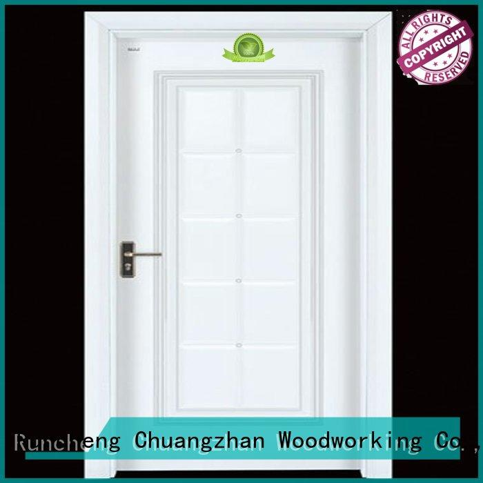 cheap wooden front doors door interior wooden door with solid wood Runcheng Woodworking Brand