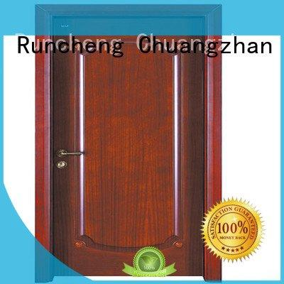 door Runcheng Woodworking cheap wooden front doors