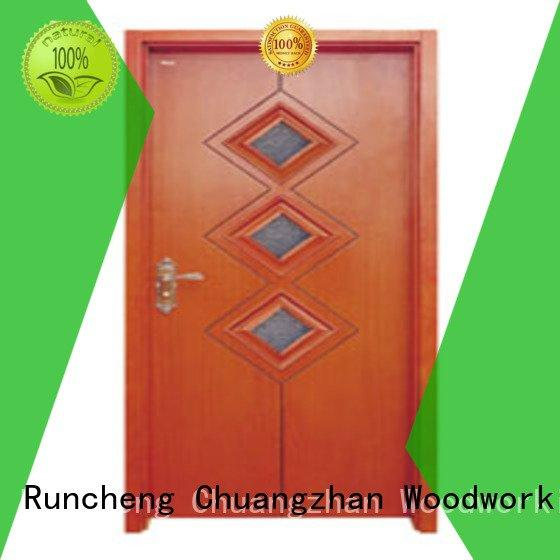 Runcheng Woodworking Brand glazed wooden glazed front doors door supplier