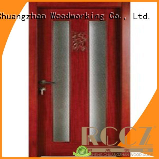 Runcheng Chuangzhan pure hardwood glazed internal doors for business for hotels
