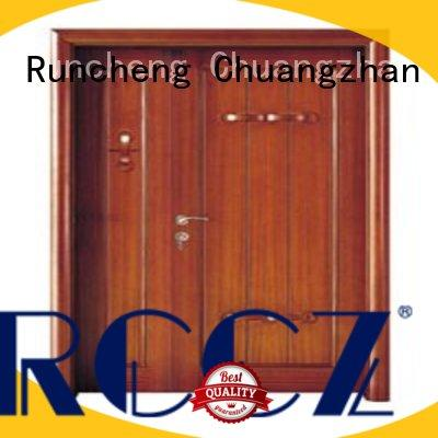 Runcheng Chuangzhan high-grade double front doors supplier for indoor