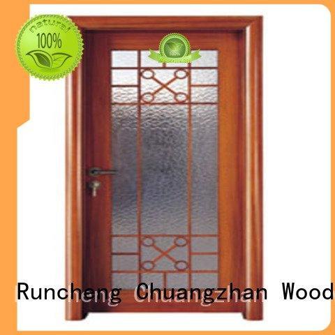 door Custom wooden double glazed doors glazed door door Runcheng Woodworking glazed