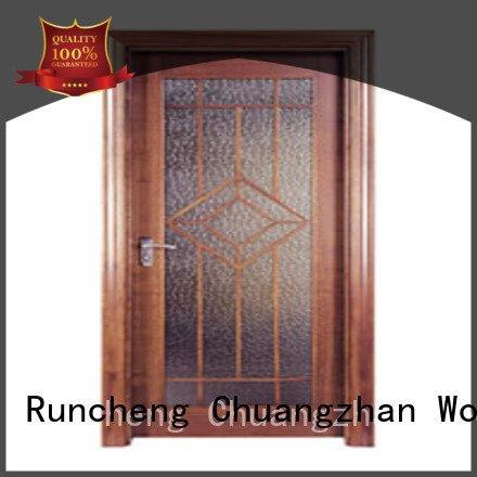 flush mdf interior wooden door door Runcheng Woodworking Brand wooden flush door