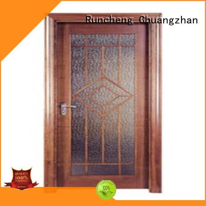 popular veneered flush wood door wholesale for hotels Runcheng Chuangzhan