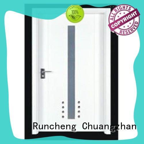 popular solid wood flush exterior door design for homes Runcheng Chuangzhan