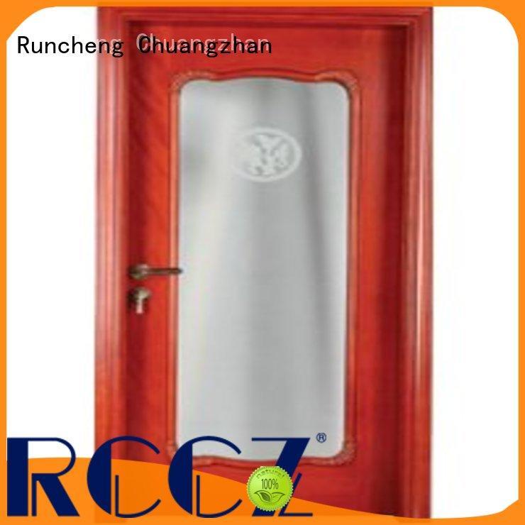Runcheng Chuangzhan internal glazed double doors manufacturers for homes