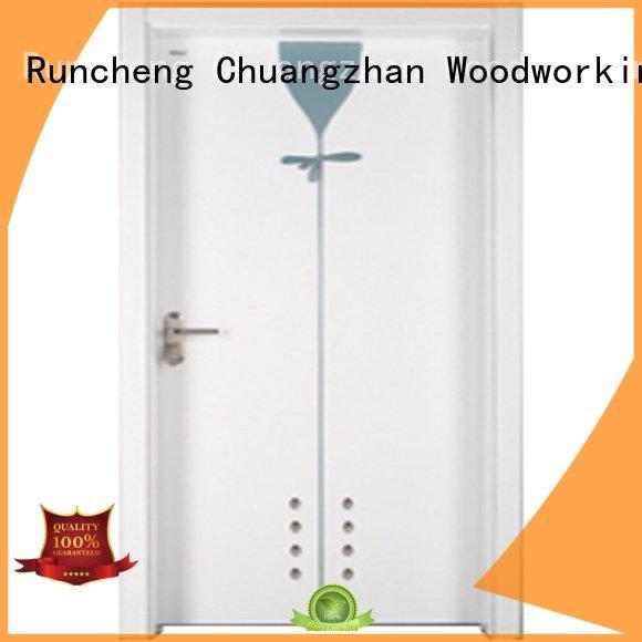 Hot wooden bathroom door bathroom Runcheng Woodworking Brand