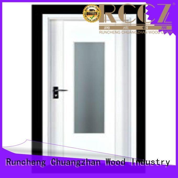 design hardwood flush door modern for hotels Runcheng Chuangzhan