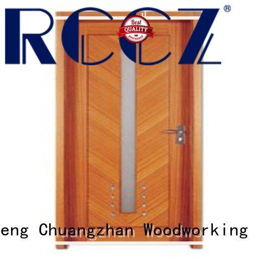 Runcheng Chuangzhan popular solid wood flush door series for indoor