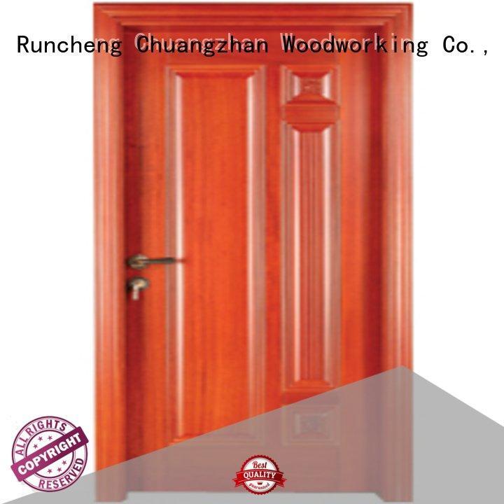Custom bedroom wooden interior door pure door wood Runcheng Woodworking