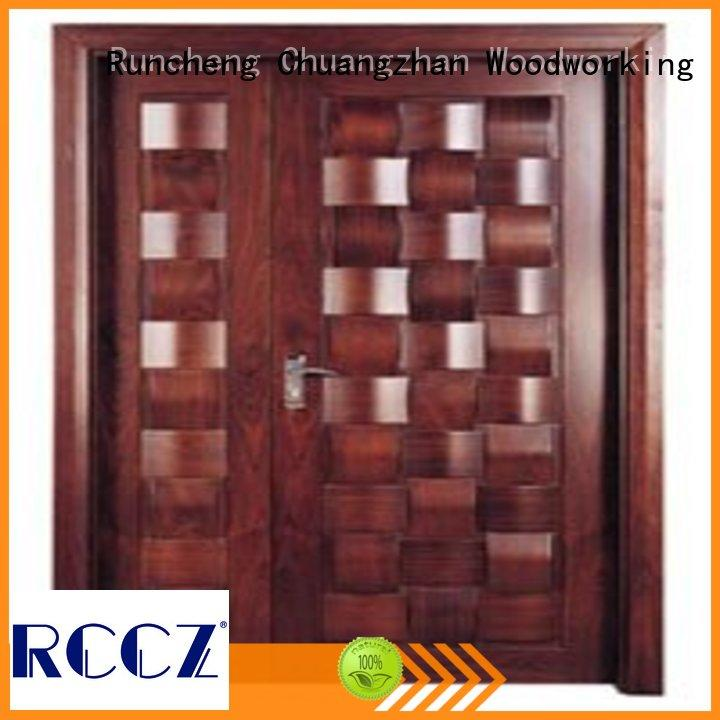 Runcheng Chuangzhan attractive double front doors wholesale for offices