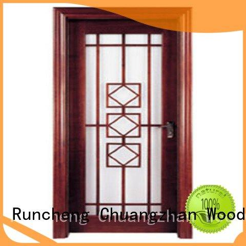 wooden glazed front doors x0303 x0233 x0093 Runcheng Woodworking