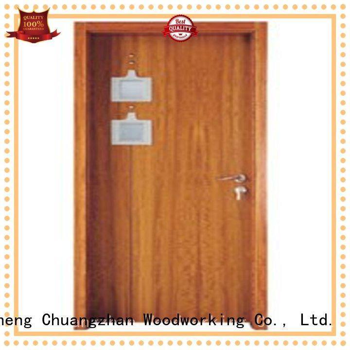 Runcheng Woodworking Brand door wooden double glazed doors glazed factory