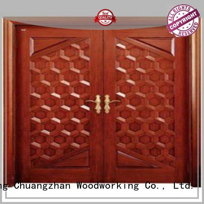 white double doors door solid quality Runcheng Woodworking Brand company