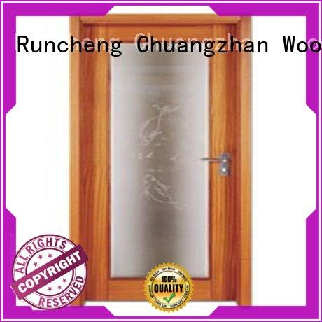 popular solid wood flush exterior door series for offices Runcheng Chuangzhan