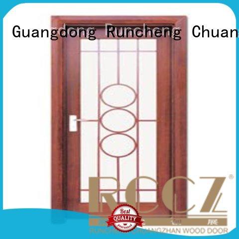 glazed durable door door hardwood glazed internal doors Runcheng Chuangzhan Brand