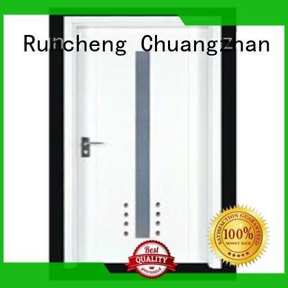 Runcheng Chuangzhan modern solid wood flush door wholesale for homes