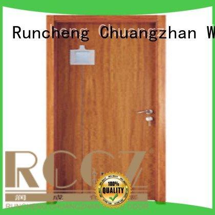 composite interior doors bathroom door solid wood bathroom doors Runcheng Woodworking Brand
