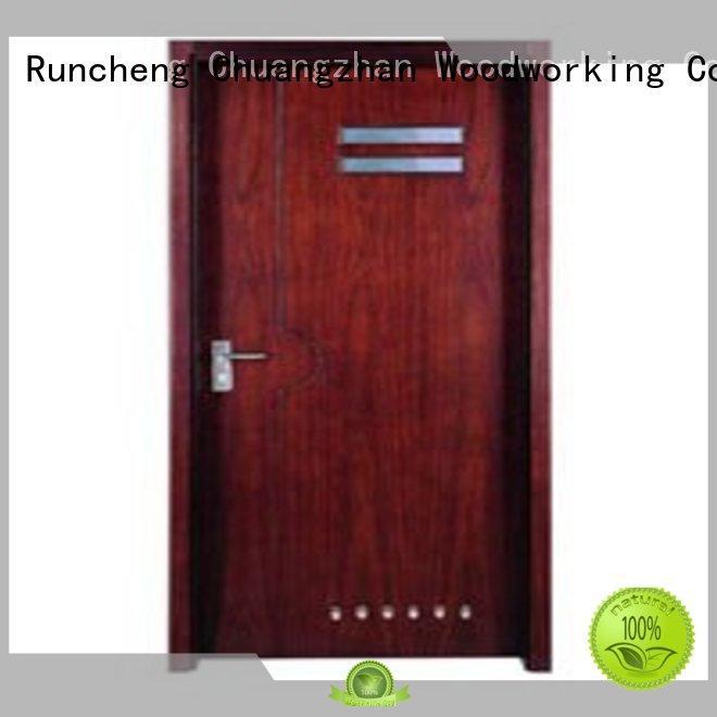durable                                          hot selling door Runcheng Woodworking Brand flush mdf interior wooden door hot