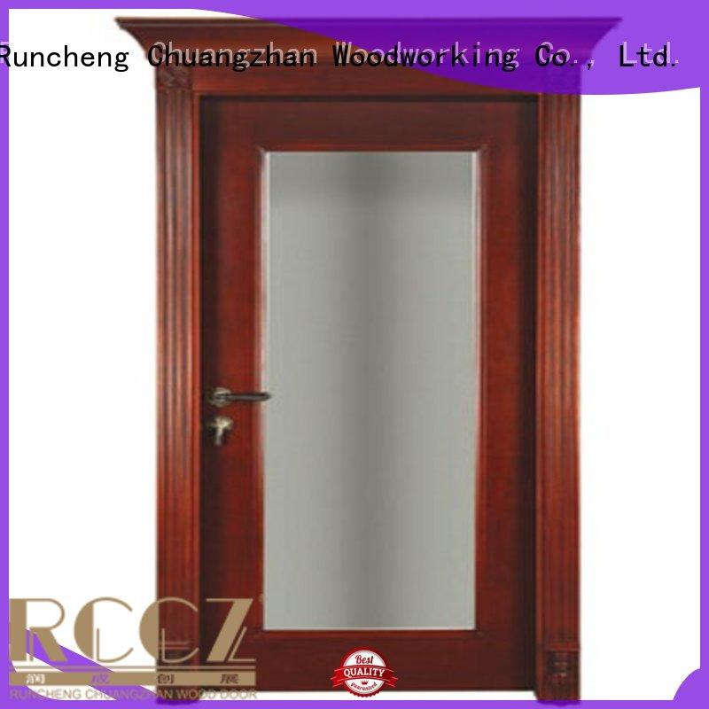 Quality Runcheng Woodworking Brand solid wood bedroom composite door british
