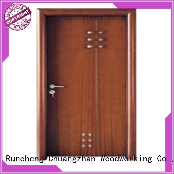 door solid wood bathroom doors x0232 x0282 Runcheng Woodworking
