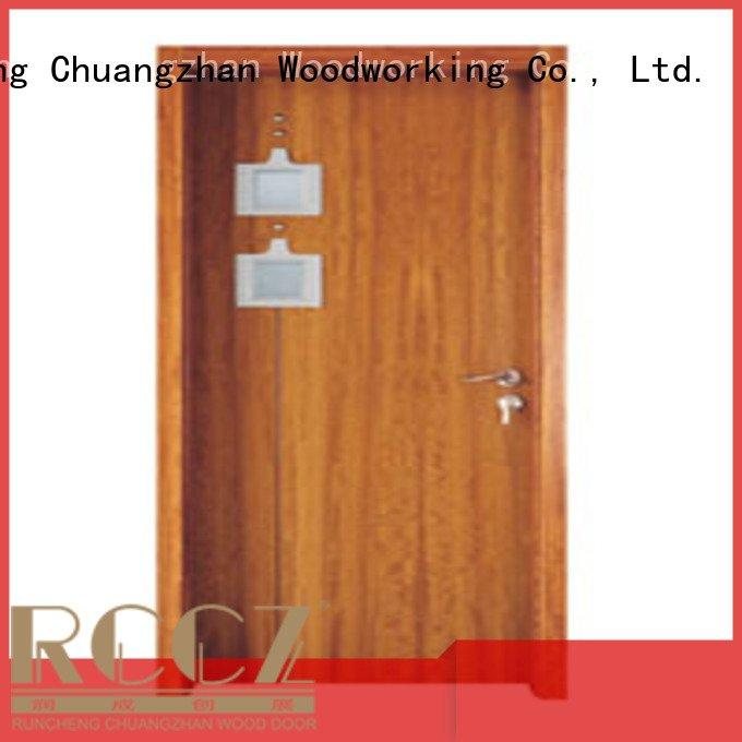 wooden glazed front doors l0084 x0153 wooden double glazed doors Runcheng Woodworking Brand