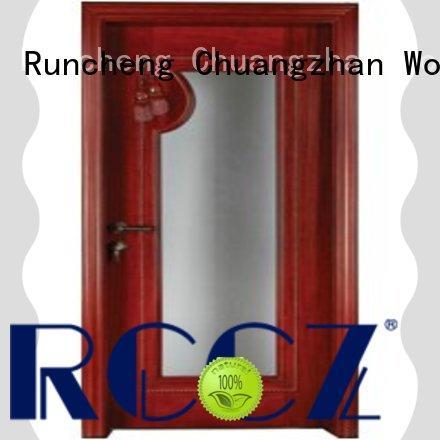 Runcheng Chuangzhan solid internal glazed doors manufacturer for offices