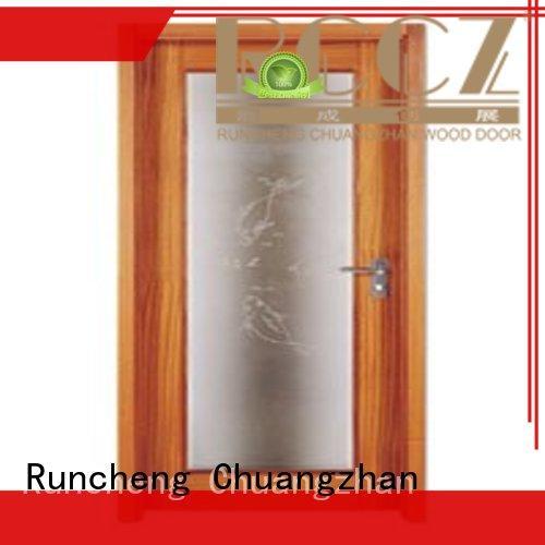 Runcheng Chuangzhan safe wooden flush door design wholesale for villas